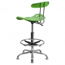 Flash Furniture LF-215-SPICYLIME-GG Vibrant Spicy Lime and Chrome Drafting Stool with Tractor Seat addl-2