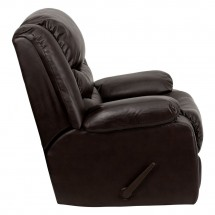 Flash Furniture MEN-DSC01078-BRN-GG Plush Brown Leather Rocker Recliner addl-5