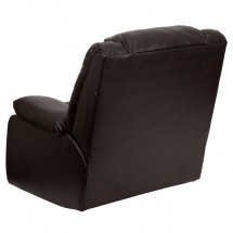 Flash Furniture MEN-DSC01078-BRN-GG Plush Brown Leather Rocker Recliner addl-1