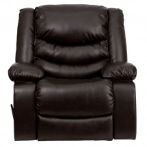 Flash Furniture MEN-DSC01078-BRN-GG Plush Brown Leather Rocker Recliner addl-2