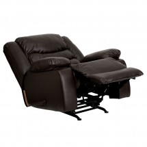 Flash Furniture MEN-DSC01078-BRN-GG Plush Brown Leather Rocker Recliner addl-6