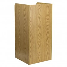 Flash Furniture MT-M8520-TRA-OAK-GG Wood Tray Top Oak Finish Trash Receptacle addl-1