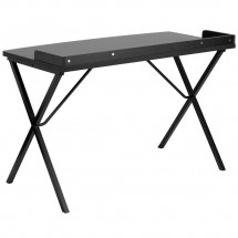 Flash Furniture NAN-2140-BK-GG Black Computer Desk addl-1
