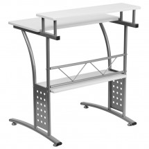 Flash Furniture NAN-CLIFTON-WH-GG Clifton White Computer Desk addl-2