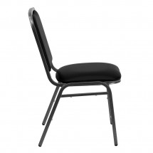 Flash Furniture NG-108-SV-BK-VYL-GG HERCULES Series Stacking Banquet Chair with Black Vinyl Seat - Silver Vein Frame addl-4