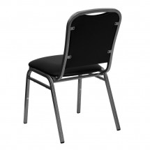 Flash Furniture NG-108-SV-BK-VYL-GG HERCULES Series Stacking Banquet Chair with Black Vinyl Seat - Silver Vein Frame addl-1