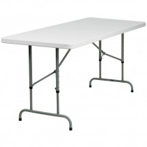 Flash Furniture RB-3072ADJ-GG 30 x 72 Height Adjustable Granite White Plastic Folding Table addl-4
