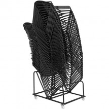 Flash Furniture RUT-188-BK-GG HERCULES Series 880 lb. Capacity Black High Density Ultra Compact Stack Chair with Black Frame addl-6