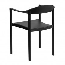 Flash Furniture RUT-418-BK-GG HERCULES Series 1000 lb. Capacity Black Plastic Cafe Stack Chair addl-1