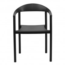 Flash Furniture RUT-418-BK-GG HERCULES Series 1000 lb. Capacity Black Plastic Cafe Stack Chair addl-2