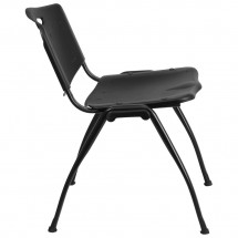 Flash Furniture RUT-D01-BK-GG HERCULES Series 880 lb. Capacity Black Polypropylene Stack Chair addl-4