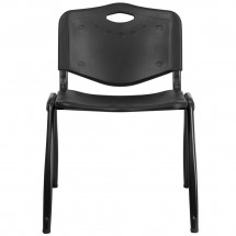 Flash Furniture RUT-D01-BK-GG HERCULES Series 880 lb. Capacity Black Polypropylene Stack Chair addl-2