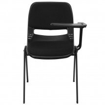 Flash Furniture RUT-EO1-01-PAD-LTAB-GG Padded Black Ergonomic Shell Chair with Left Handed Flip-Up Tablet Arm addl-2
