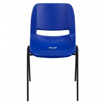 Flash Furniture RUT-EO1-BL-GG HERCULES Series 880 lb. Capacity Blue Ergonomic Shell Stack Chair addl-2