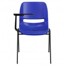 Flash Furniture RUT-EO1-BL-RTAB-GG Blue Ergonomic Shell Chair with Right Handed Flip-Up Tablet Arm addl-2