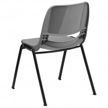 Flash Furniture RUT-EO1-GY-GG HERCULES Series 880 lb. Capacity Gray Ergonomic Shell Stack Chair addl-1