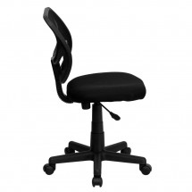 Flash Furniture WA-3074-BK-GG Mid-Back Black Mesh Task Chair addl-4