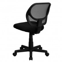 Flash Furniture WA-3074-BK-GG Mid-Back Black Mesh Task Chair addl-1