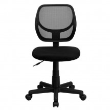 Flash Furniture WA-3074-BK-GG Mid-Back Black Mesh Task Chair addl-2