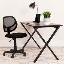 Flash Furniture WA-3074-BK-GG Mid-Back Black Mesh Task Chair addl-3