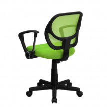 Flash Furniture WA-3074-GN-A-GG Mid-Back Green Mesh Task Chair with Arms addl-1