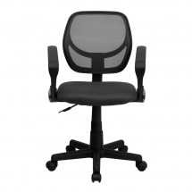 Flash Furniture WA-3074-GY-A-GG Mid-Back Gray Mesh Task Chair with Arms addl-2