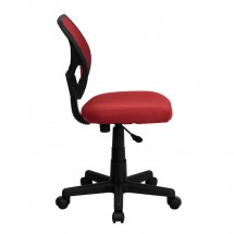 Flash Furniture WA-3074-RD-GG Mid-Back Red Mesh Task Chair addl-4