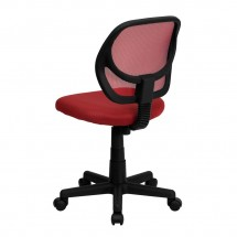 Flash Furniture WA-3074-RD-GG Mid-Back Red Mesh Task Chair addl-1