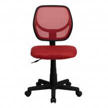 Flash Furniture WA-3074-RD-GG Mid-Back Red Mesh Task Chair addl-2