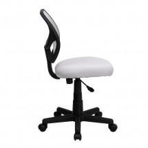 Flash Furniture WA-3074-WHT-GG Mid-Back White Mesh Task Chair addl-4