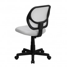 Flash Furniture WA-3074-WHT-GG Mid-Back White Mesh Task Chair addl-1