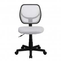 Flash Furniture WA-3074-WHT-GG Mid-Back White Mesh Task Chair addl-2