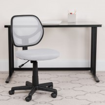 Flash Furniture WA-3074-WHT-GG Mid-Back White Mesh Task Chair addl-3