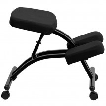 Flash Furniture WL-1420-GG Mobile Ergonomic Kneeling Chair in Black Fabric addl-4