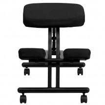 Flash Furniture WL-1420-GG Mobile Ergonomic Kneeling Chair in Black Fabric addl-2