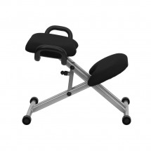 Flash Furniture WL-1429-GG Ergonomic Kneeling Chair in Black Fabric with Handles addl-4