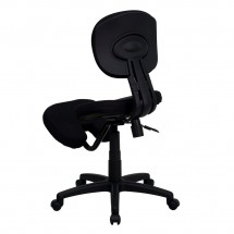 Flash Furniture WL-1430-GG Mobile Ergonomic Kneeling Posture Task Chair in Black Fabric with Back addl-1