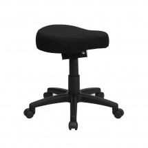 Flash Furniture WL-1620-GG Black Saddle-Seat Utility Stool with Height and Angle Adjustment addl-4
