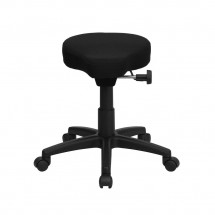 Flash Furniture WL-1620-GG Black Saddle-Seat Utility Stool with Height and Angle Adjustment addl-2