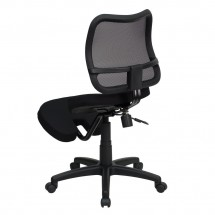 Flash Furniture WL-3425-GG Mobile Ergonomic Kneeling Task Chair with Black Curved Mesh Back and Fabric Seat addl-1