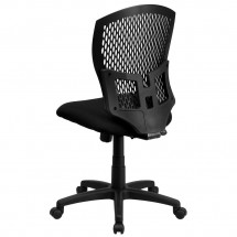 Flash Furniture WL-3958SYG-BK-GG Mid-Back Designer Back Task Chair with Padded Fabric Seat addl-1