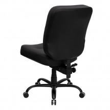 Flash Furniture WL-735SYG-BK-LEA-GG HERCULES Series 400 lb. Capacity Big and Tall Black Leather Office Chair with Extra Wide Seat addl-1