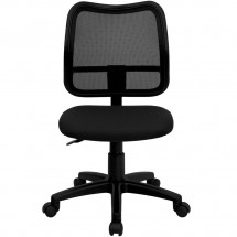 Flash Furniture WL-A277-BK-GG Mid-Back Mesh Task Chair with Black Fabric Seat addl-2