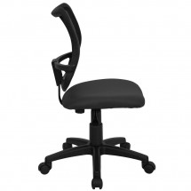 Flash Furniture WL-A277-GY-GG Mid-Back Mesh Task Chair with Gray Fabric Seat addl-4