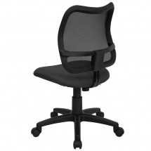 Flash Furniture WL-A277-GY-GG Mid-Back Mesh Task Chair with Gray Fabric Seat addl-1