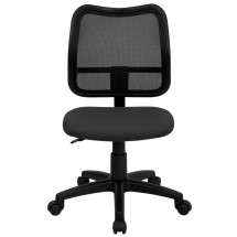 Flash Furniture WL-A277-GY-GG Mid-Back Mesh Task Chair with Gray Fabric Seat addl-2