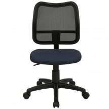 Flash Furniture WL-A277-NVY-GG Mid-Back Mesh Task Chair with Navy Blue Fabric Seat addl-2