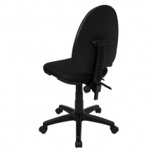 Flash Furniture WL-A654MG-BK-GG Mid-Back Black Fabric Multi-Functional Task Chair with Adjustable Lumbar Support addl-1