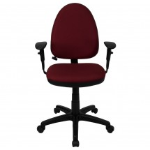 Flash Furniture WL-A654MG-BY-A-GG Mid-Back Burgundy Fabric Multi-Functional Task Chair with Arms and Adjustable Lumbar Support addl-1