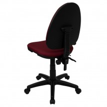Flash Furniture WL-A654MG-BY-GG Mid-Back Burgundy Fabric Multi-Functional Task Chair with Adjustable Lumbar Support addl-5